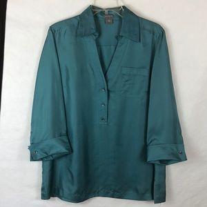 Ann Taylor women's silk blouse sz 14